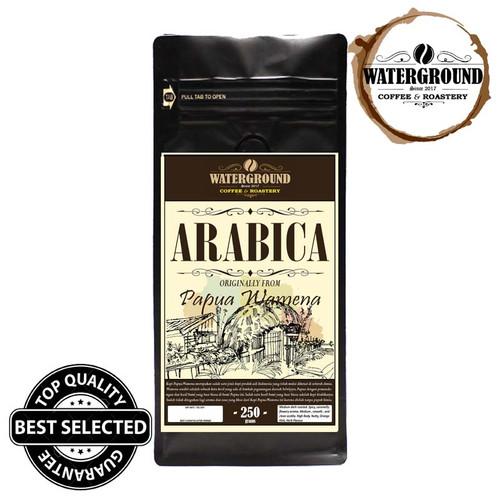 Foto Produk Bubuk / Biji Kopi Arabica(Arabika) Specialty Papua Wamena Kualitas Top - BIJI dari WATERGROUND COFFEE