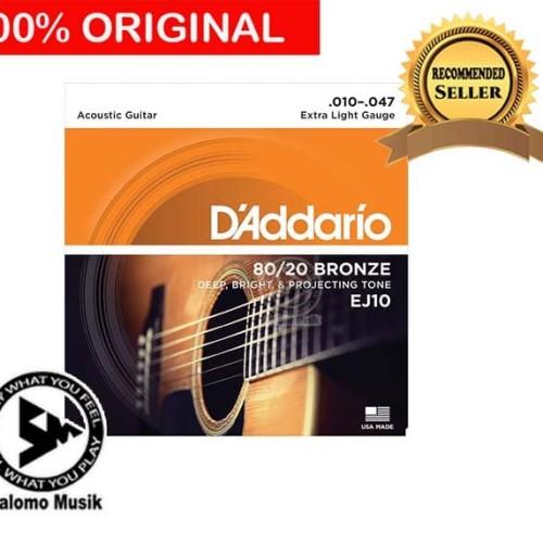 Foto Produk Senar Gitar Daddario D addario D'Addario Akustik Acoustic EJ10 Bronze dari Salomo Musik