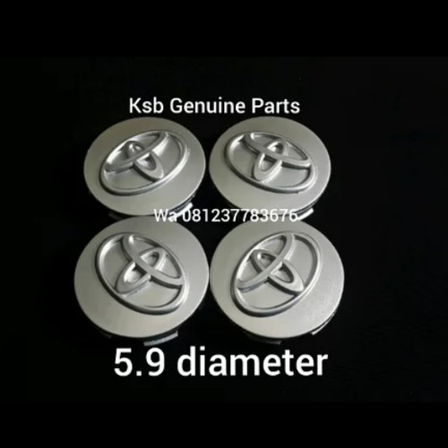 Foto Produk Dop Velg Tutup Center As Roda Avanza Rush Veloz Silver Toyota Asli dari KSB Genuine Parts