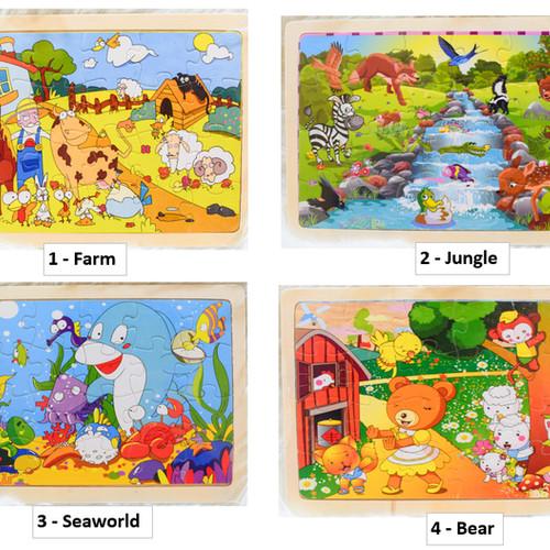 Foto Produk Mainan Puzzle Kayu 24pcs Lucu dari Gober House88