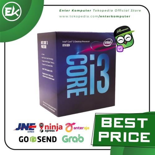 Foto Produk Intel Core i3-8100 3.6Ghz - Cache 6MB [Box] Socket LGA 1151 dari Enter Komputer Official