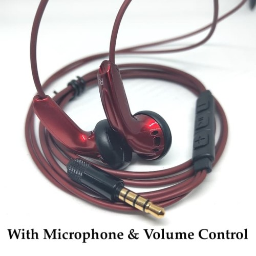 Foto Produk Blue And Red Custom Bass Earphone With Crystal Sound Sennheiser MX500 - Merah dari Onebest Choice