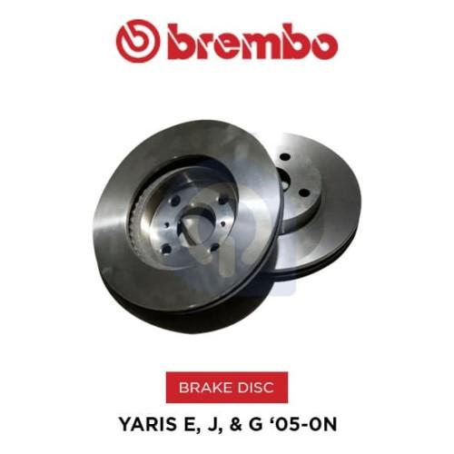 Foto Produk Brake Disc Rotor Toyota YARIS E, J, & G '05-ON BREMBO ORI dari NEW INTI OTOPART BANDUNG
