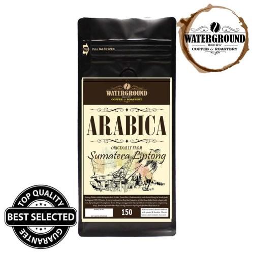Foto Produk Kopi [Biji/Bubuk] 150 GR Arabika Sumatera Lintong Kualitas Mantap - BIJI dari WATERGROUND COFFEE