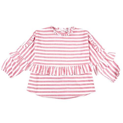 Foto Produk KIDS ICON - Blouse Anak Perempuan CURLY Frill & Stripe - LYB00400190 - 4-5 tahun dari Kids Icon