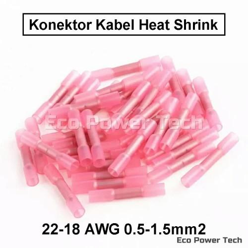 Foto Produk Konektor Penyambung kabel bakar heat shrink 0.5-1.5mm 22-18 AWG Red dari Eco Power Tech