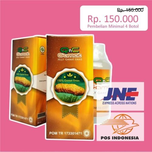 Foto Produk QnC Jeli Jelli Jely Jelly Gamat Bukan Luxor - Gold G - GnG - Mitoha dari Heni Herbal Store