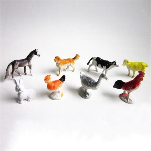Foto Produk 8Pcs Mainan Figure Hewan Ternak Bahan Plastik untuk Anak dari Tokoe Murah