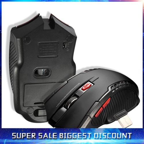Foto Produk NEW Wireless Mouse 6 Buttons Optical Mouse Adjustable 2400DPI Wireles dari ROSHWEEL STORE