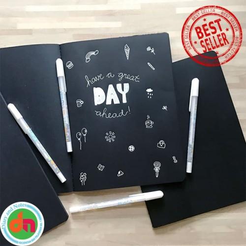 Foto Produk Black Paper Plain Notebook / Buku Catatan Kertas Hitam dari Diary and Notes Collecti