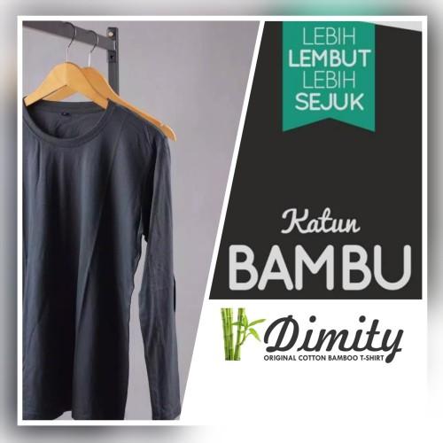 Foto Produk Kaos Polos Lengan Panjang Katun Bambu O-NECK (COTTON BAMBOO ORIGINAL) dari DIMITY