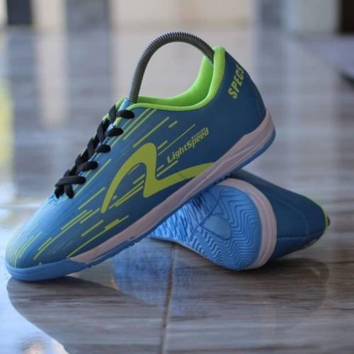 Foto Produk Sepatu Futsal Specs Light Speed Biru Putih Olahraga Sport dari WNG Store