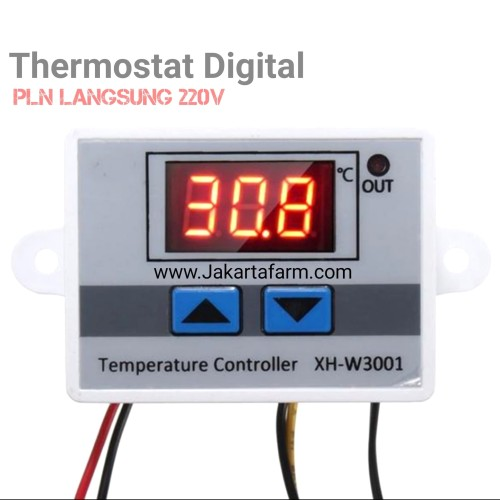 Foto Produk Thermostat digital xh w3001 220v termostat mesin penetas telur dari Jakarta Farm