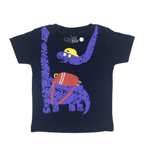 Foto Produk Kaos Anak - Anak | L065 Brontosaurus Tee by Litlle Jergio - Extra Large dari Little Jergio