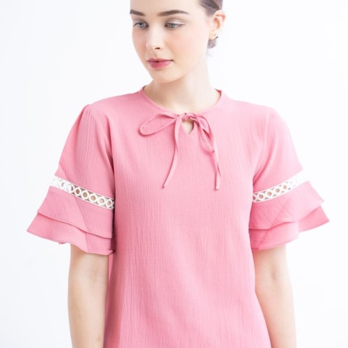 Foto Produk Luna Pink Blouse - Merah Muda, S dari Voerin Official