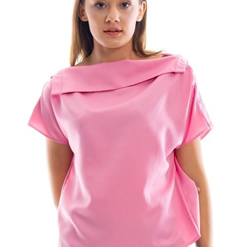 Foto Produk Valerie Pink Blouse - Merah Muda, L dari Voerin Official