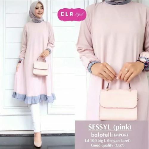 Foto Produk Baju Pakaian Busana Muslim Atasan Wanita Tunik SESSYL Terbaru Murah dari Zy's Distro