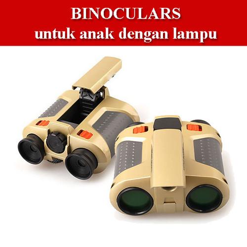 Foto Produk Binoculars Night Scope Anak dengan Pop Up Light Teropong Binokular dari GemsTronic