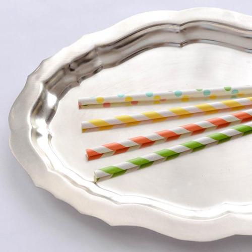 Foto Produk Paper Straw Citrus Yellow Striped dari gudily