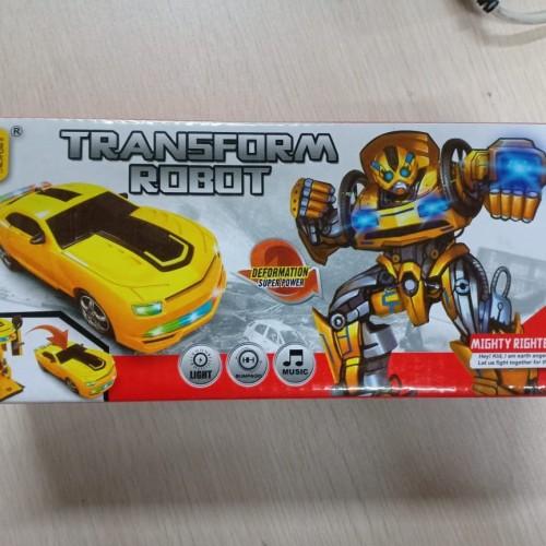 Foto Produk Mainan Anak Mobil Baterai transformer Bumblebee 2 in 1 Besar 8986 dari Toko-Ku by FAS-TOP