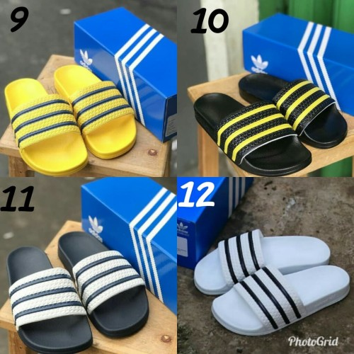 Foto Produk sandal adidas adilette hitam putih grade ori made in italy sandal slop dari SEPATU_EMBUN