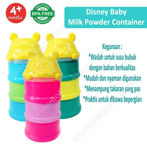 Foto Produk Disney baby Milk Powder Container 3 Rack- kontainer susu 3 susun dari Momo Baby Shop
