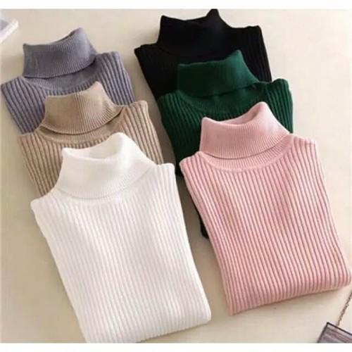 Foto Produk Turtle neck Cotton Knitted Polos dari ariana latif