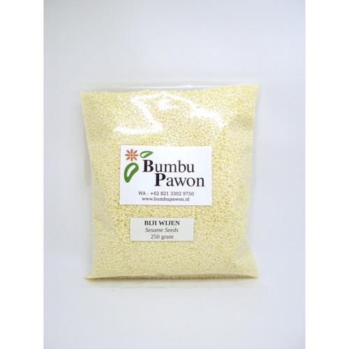 Foto Produk BP019B Biji Wijen Putih, Sesame Seeds 250 gram dari Bumbu Pawon.Id