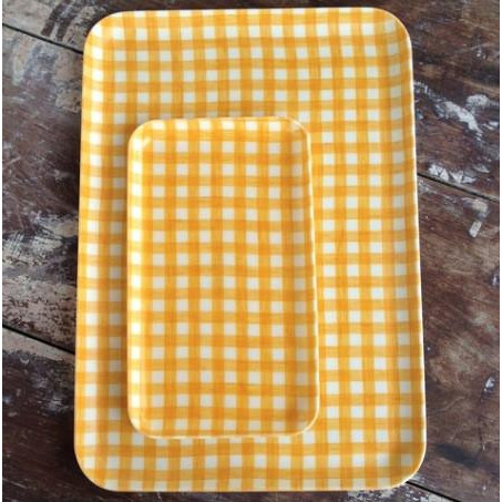 Foto Produk Linen Tray Yellow Check S dari gudily