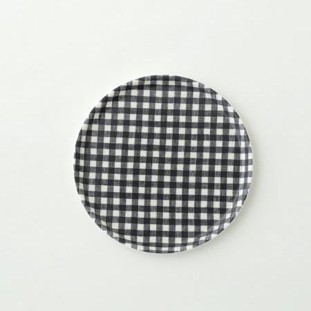 Foto Produk Linen Tray Round Navy White Check M dari gudily