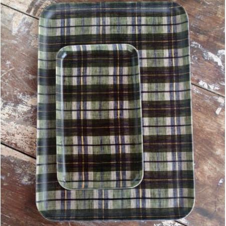 Foto Produk Linen Tray Green Plaid S dari gudily