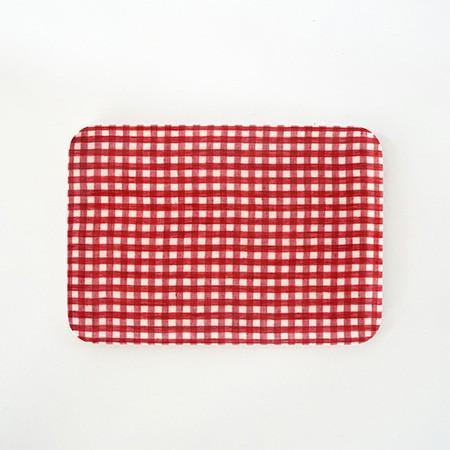 Foto Produk Linen Tray Red White Check S dari gudily