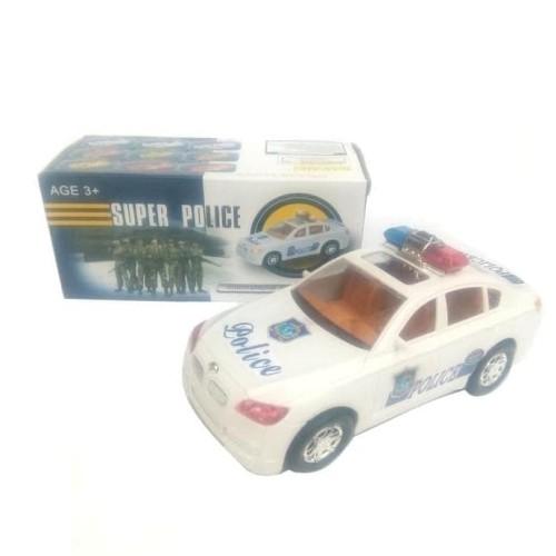 Foto Produk Mainan Mobil Polisi Baterai - mainan mobil polisi berjalan nyala lampu dari Mirakell shopp