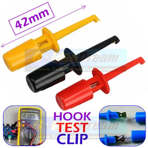 Foto Produk 42mm Hook Clip Test Klip Penjepit Connector Jepitan Kail Pengait IC - Merah dari VISITEK