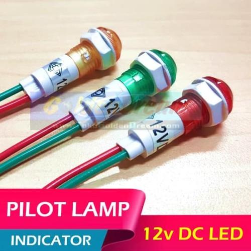 Foto Produk LED Indicator 12v DC Pilot Lamp Light M10 Lampu Indikator Sinyal M10 - Hijau muda dari VISITEK