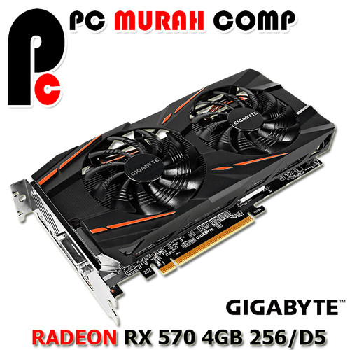 Foto Produk VGA GIGABYTE AMD Radeon GV RX 570 Gaming RX570 4GD MI dari Pc Murah Comp