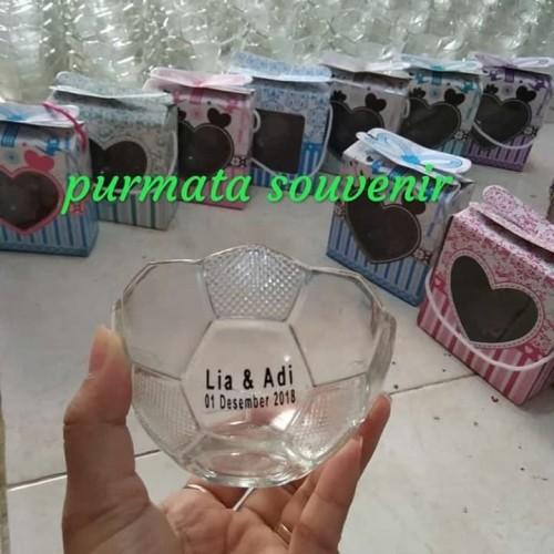 Foto Produk souvernir mangkok bola/souvenir pernikahan dari purmata souvenir
