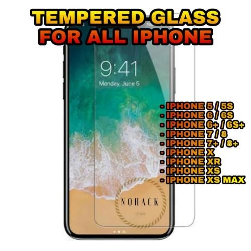 Foto Produk Tempered glass all iphone 5 5S SE 6 6S 6+ 7 7+ 8 8+ PLUS X XR XS MAX - 5 5S SE dari Caseayangan ID