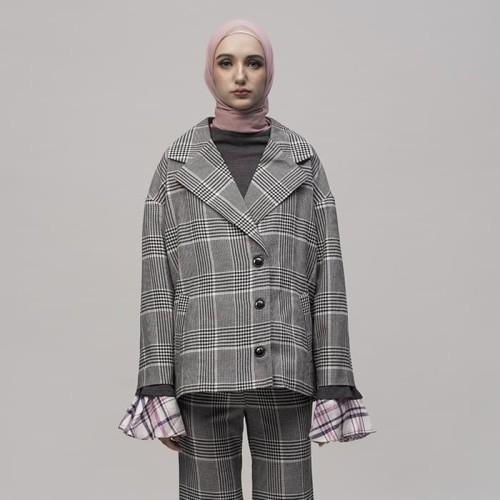 Foto Produk Hitam Putih Tweed jacket - Hitam dari ASK by Asky Febrianti