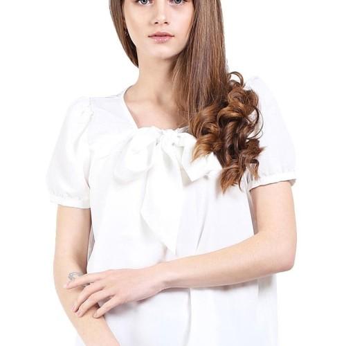 Foto Produk Bow Top Putih - Putih, S dari Voerin Official