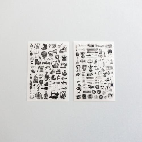 Foto Produk Rub-on Sticker Mini Vintage Goods dari gudily