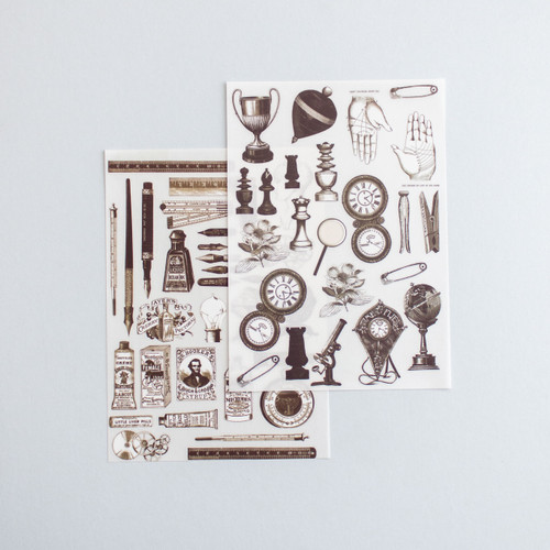 Foto Produk Rub-on Sticker Vintage Trinkets & Calligraphy dari gudily