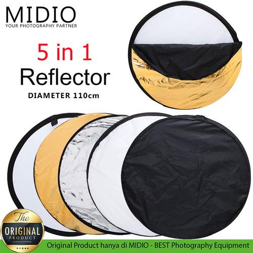 Foto Produk Reflektor 5 in 1 Ukuran Diameter 110cm Studio Foto dari Midio