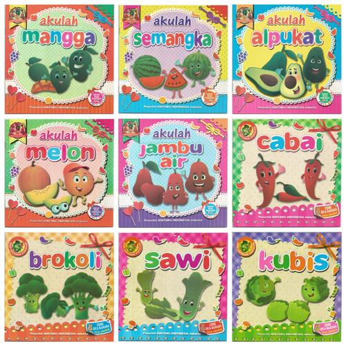 Foto Produk Buku Cerita Anak Bergambar Seri Buah Dan Sayur Bilingual Full Colour dari Kedai Kadoku