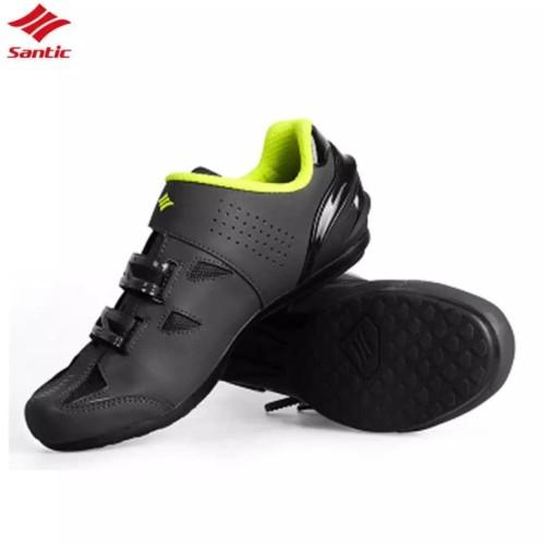 Foto Produk Sepatu flat SANTIC non cleat Gray Green fluo - Sepatu gowes - 41 dari Kaligung
