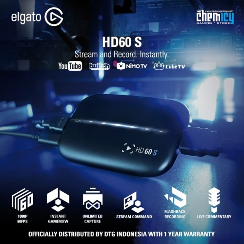 Foto Produk Elgato HD60S Game Capture Stream and Record dari Chemicy Gaming