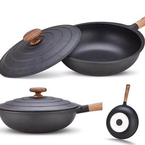 Foto Produk *BLACK Wok 30cm* Signora dari Mina Kitchen Tools