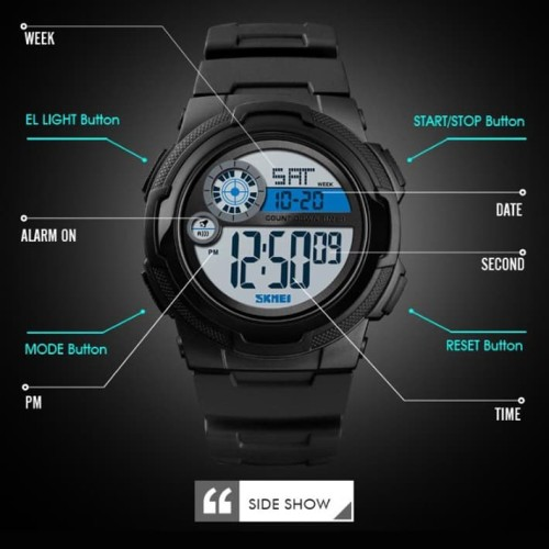 Foto Produk Jam Tangan Digital Pria Original SKMEI Watch 1437 Stopwatch Waterproof dari ParagonJaya