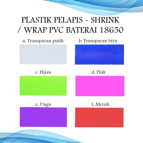 Foto Produk Plastik Pelapis Batre/Baterai - Shrink/Wrap PVC Battery 18650 dari Toko Mitra Abadi