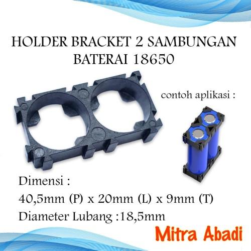 Foto Produk Holder Bracket 2 Sambungan Batre/Baterai 18650 dari Toko Mitra Abadi